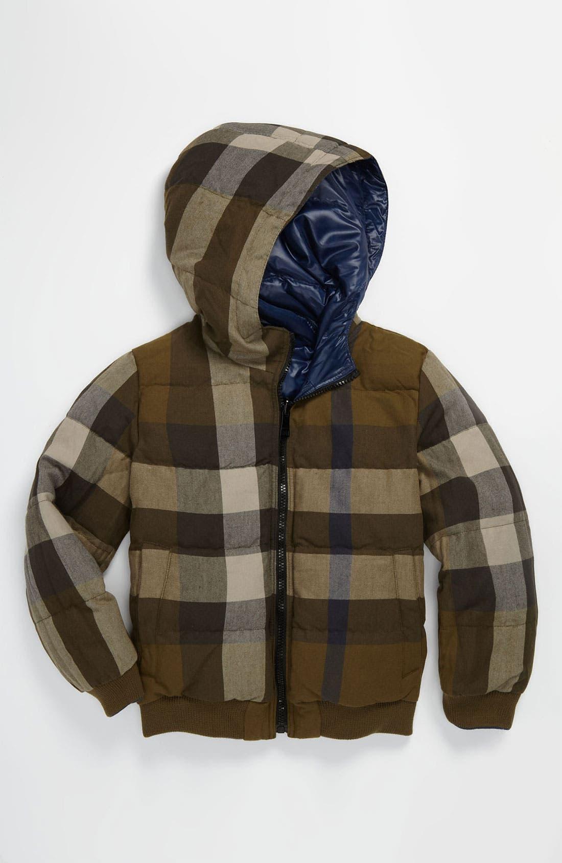 Alternate Image 2  - Burberry Reversible Down Puffer Jacket (Little Girls & Big Girls)