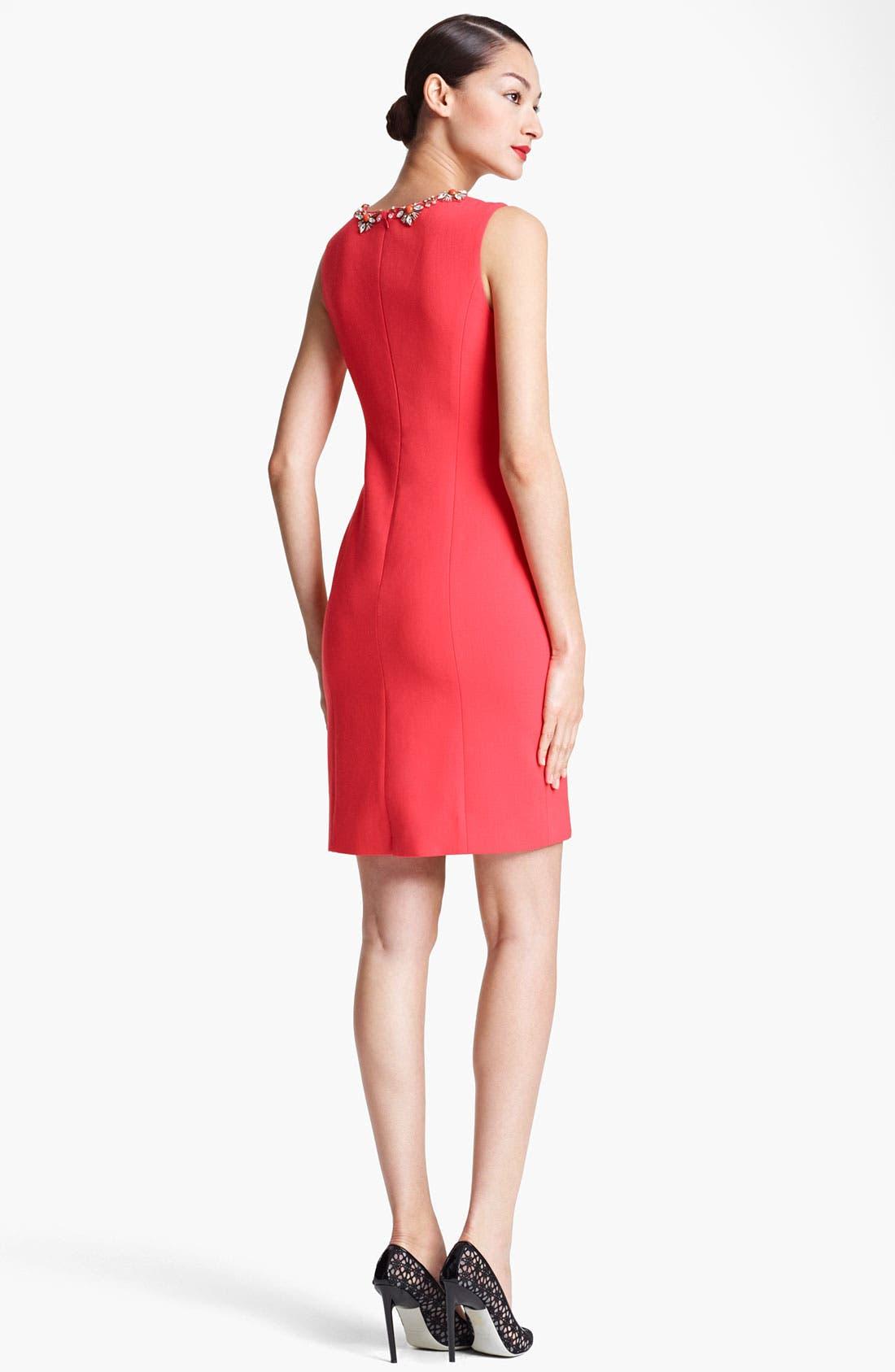 Alternate Image 2  - Jason Wu Embellished Neck Sheath Dress