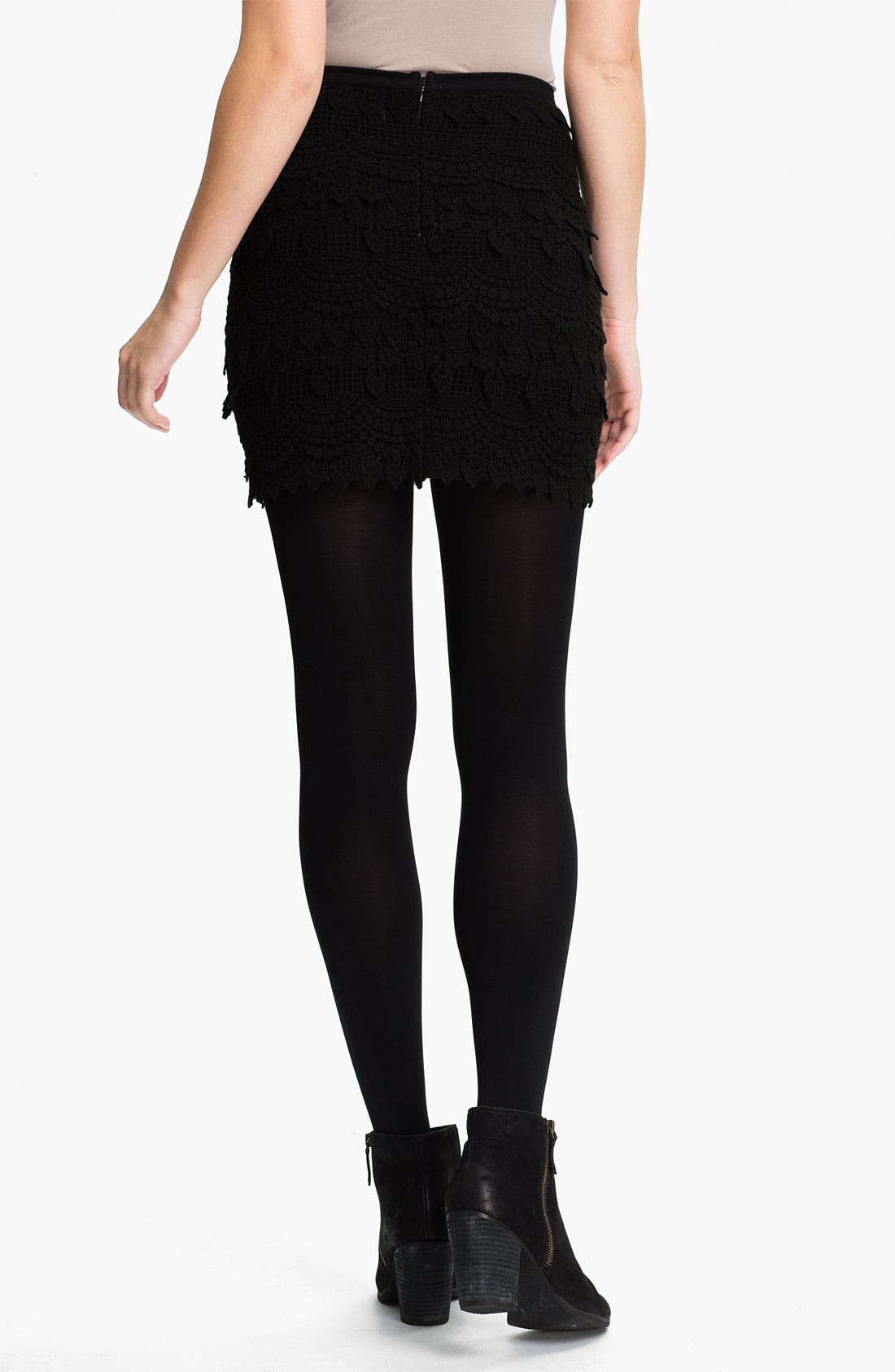 Alternate Image 2  - Lush Banded Crochet Skirt (Juniors)
