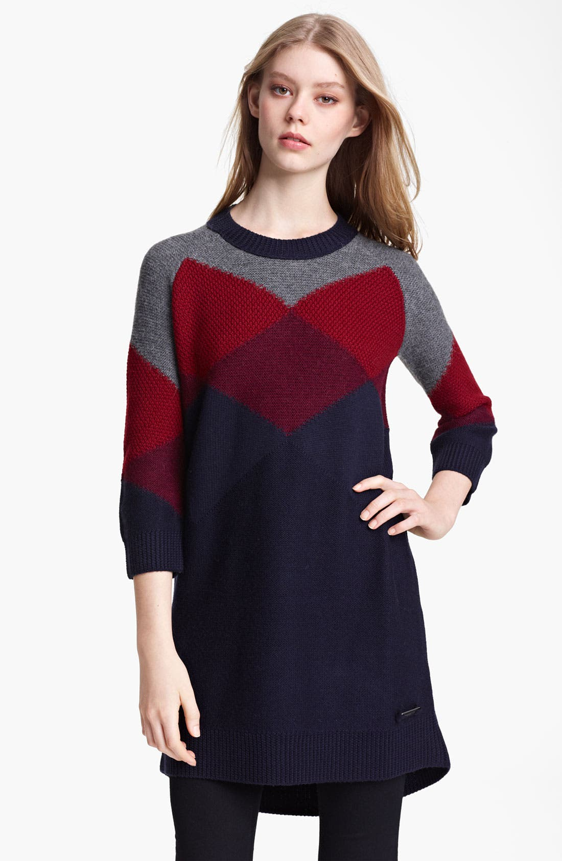 Main Image - Burberry Brit Knit Sweater Dress (Online Exclusive)