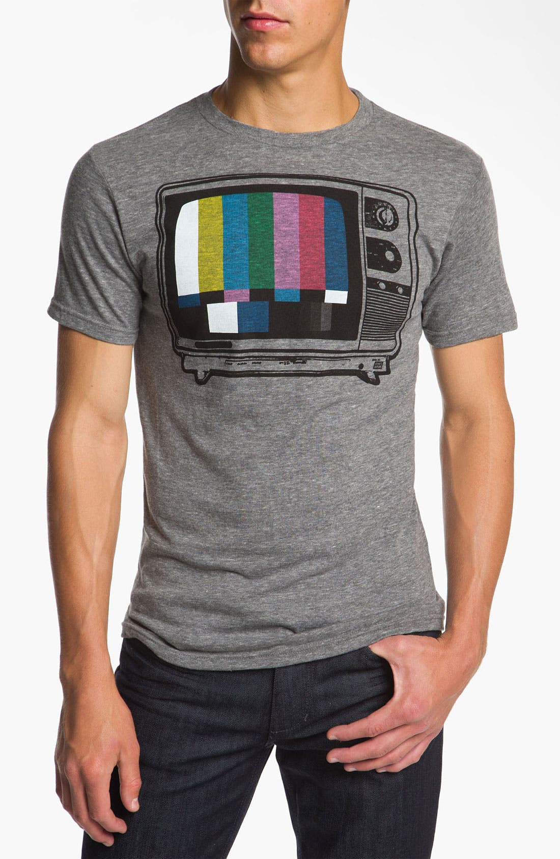 Alternate Image 1 Selected - Ames Bros 'Off Air' Trim Fit Graphic Tee
