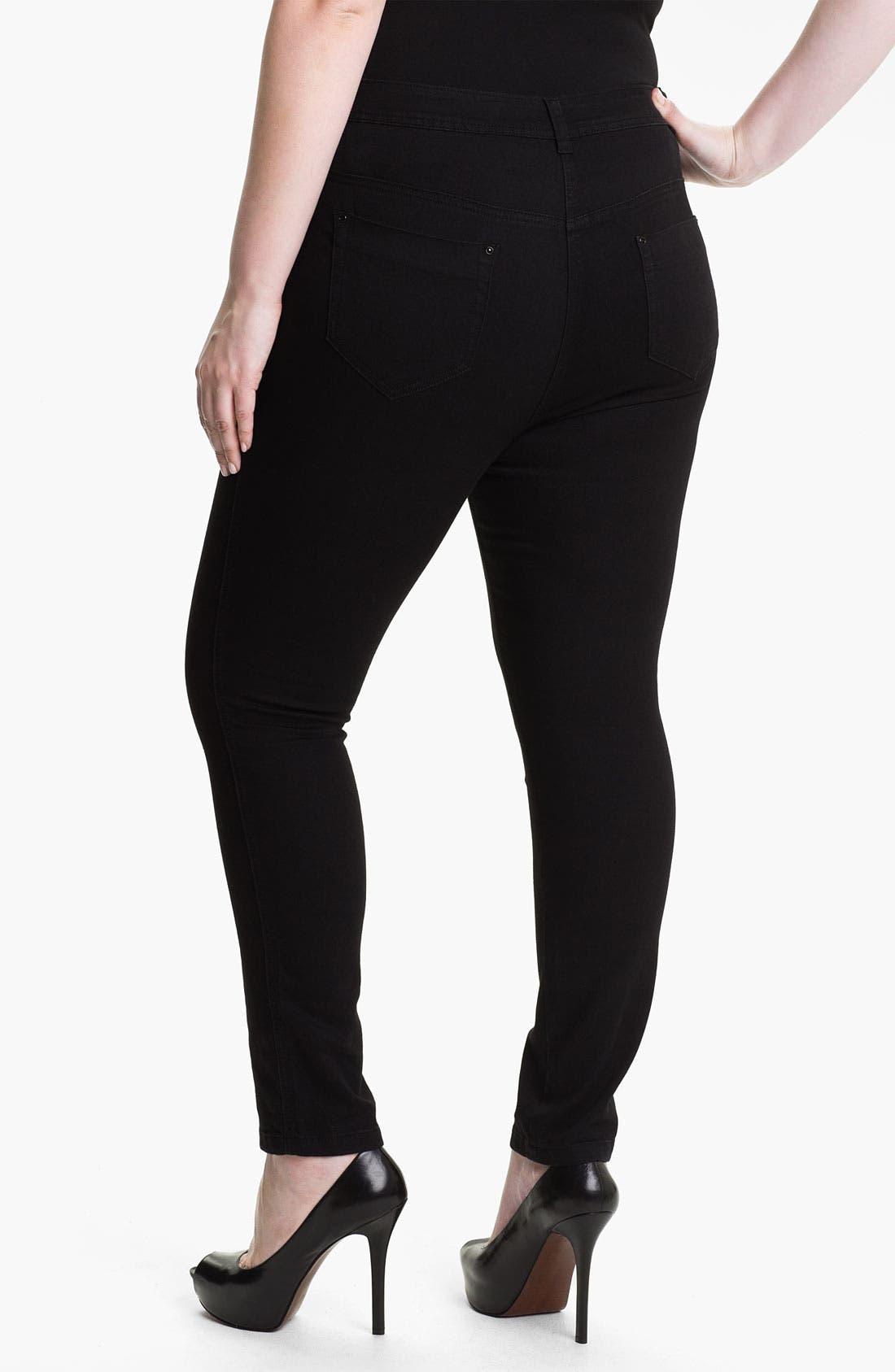 Alternate Image 2  - Evans 'Super Stretch' Jeans (Plus Size)