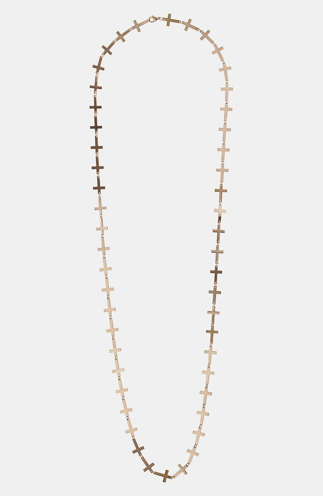 Main Image - Topshop Linked Cross Necklace