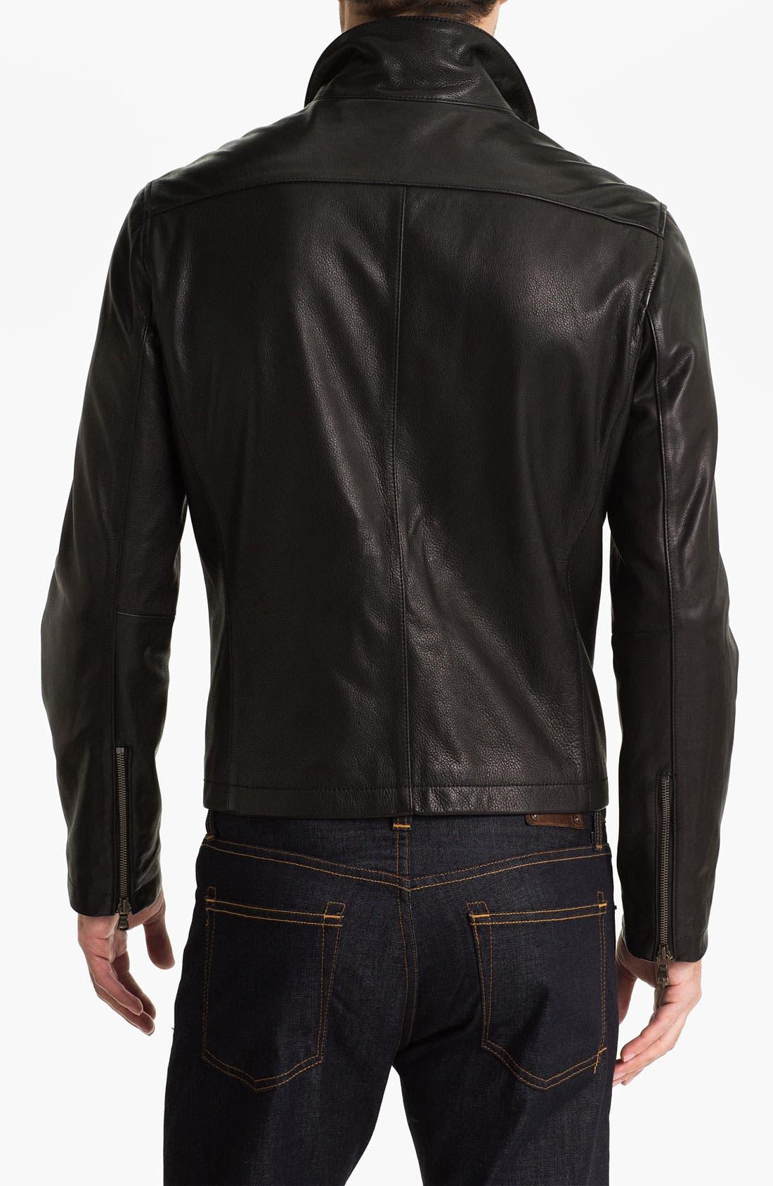 Alternate Image 2  - John Varvatos Star USA Leather Moto Jacket