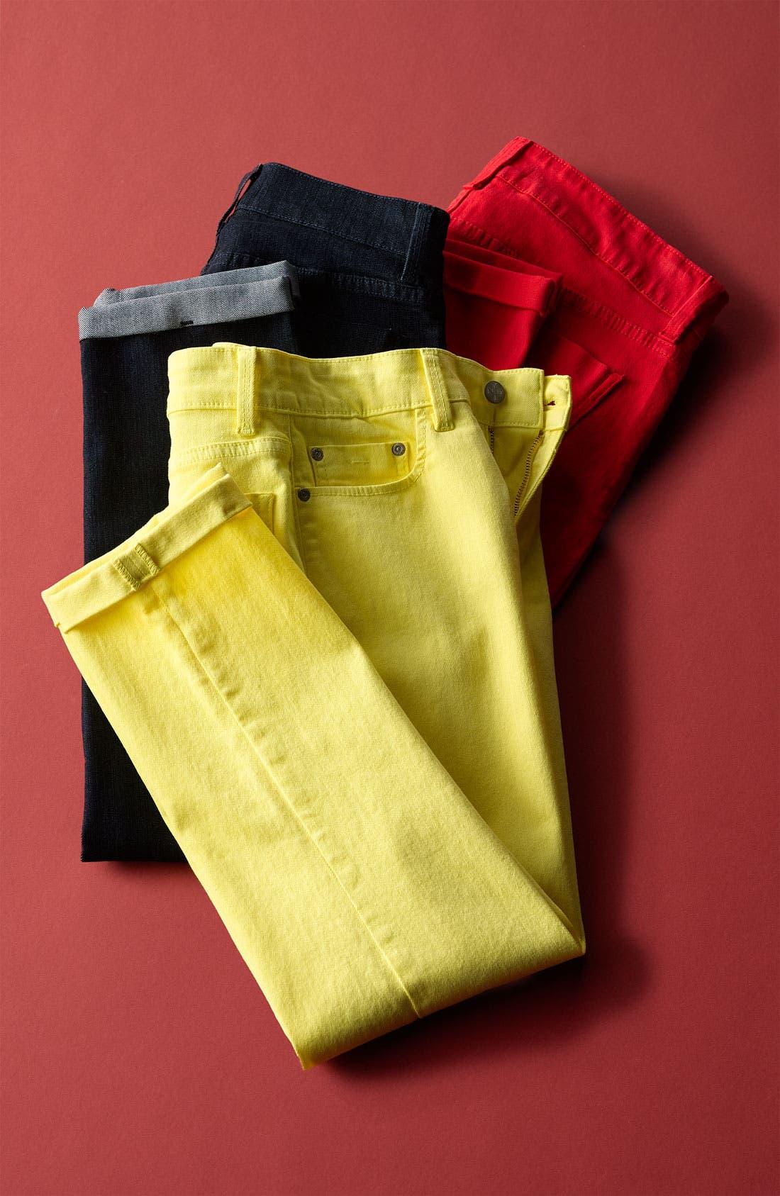 Alternate Image 4  - NYDJ 'Kendall' Cuffed Crop Stretch Jeans