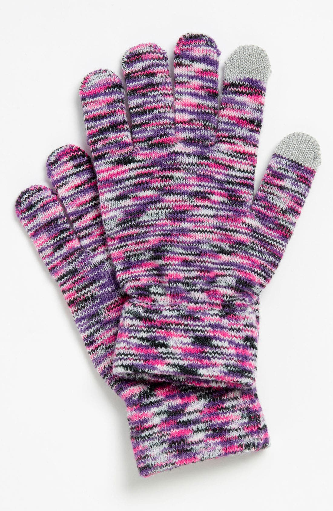 Alternate Image 1 Selected - David & Young Rainbow Knit Tech-Friendly Gloves