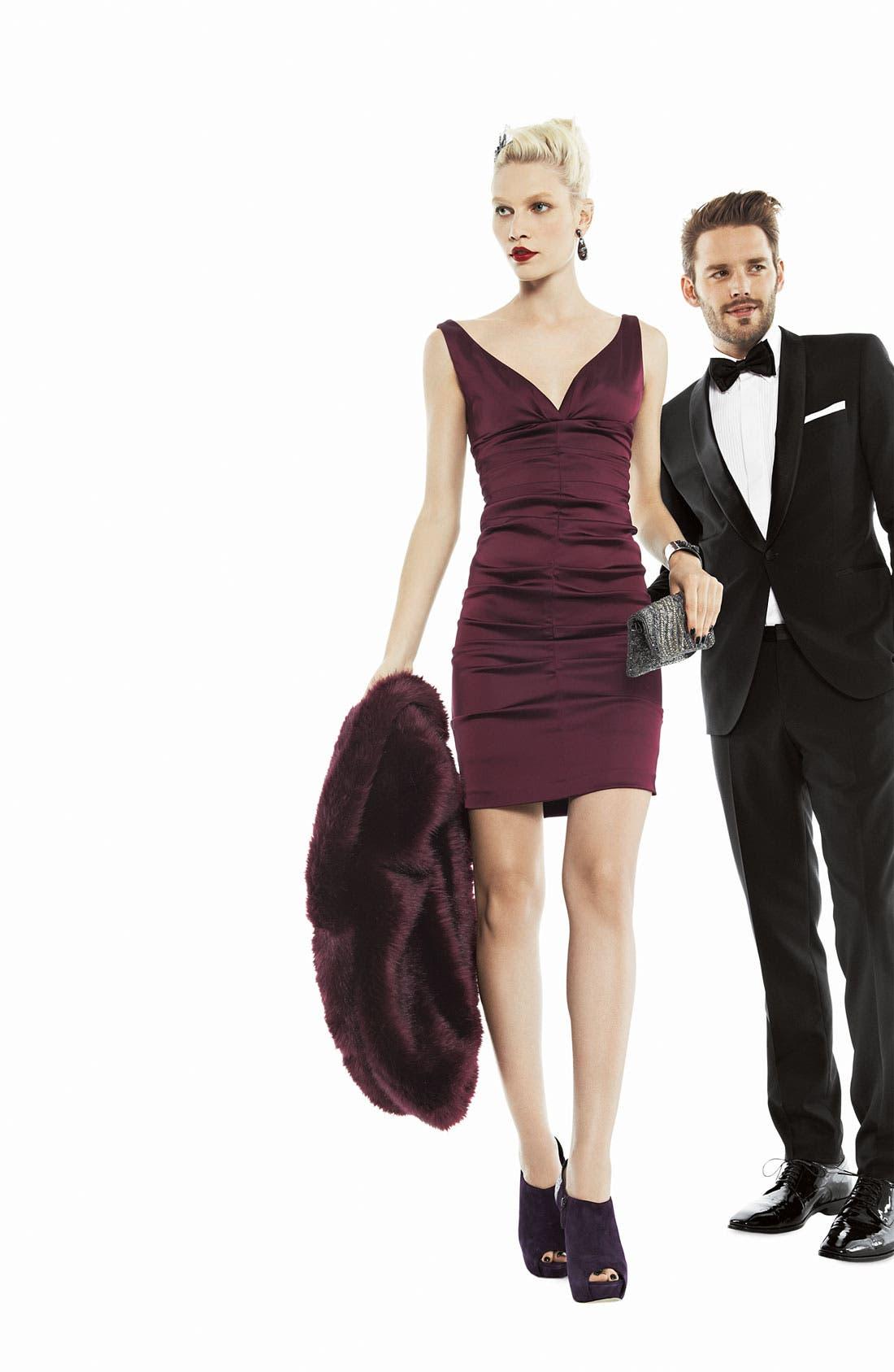 Alternate Image 3  - Xscape Ruched Stretch Satin Sheath Dress