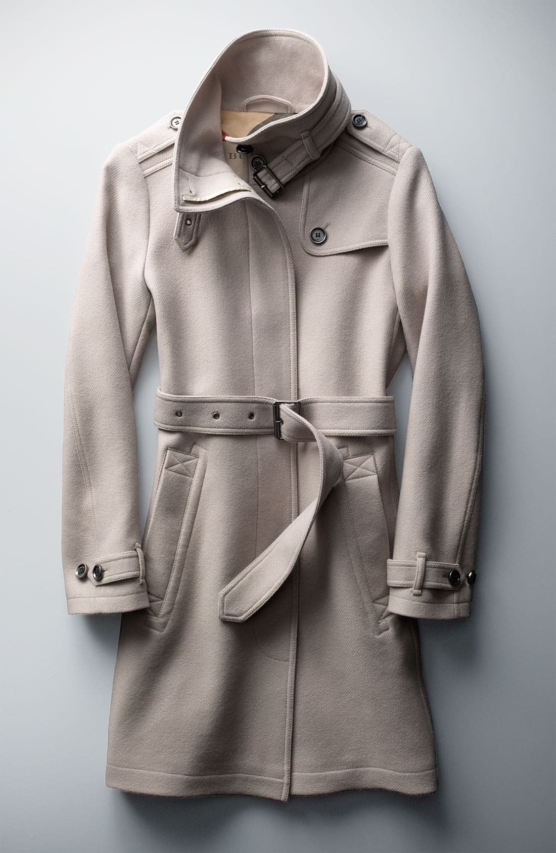 Alternate Image 4  - Burberry Brit 'Rushworth' Belted Wool Blend Coat
