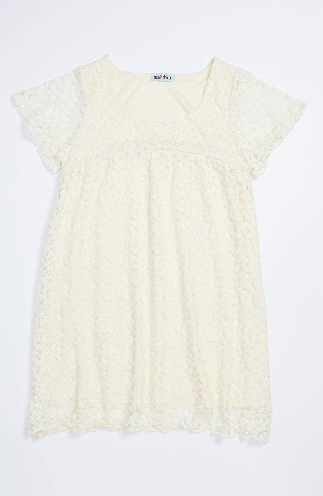 Alternate Image 1 Selected - Mia Chica Crochet Dress (Big Girls)