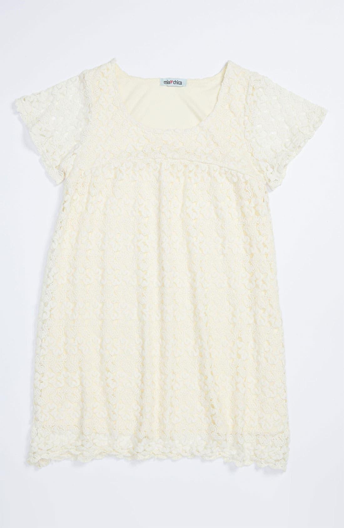 Main Image - Mia Chica Crochet Dress (Big Girls)