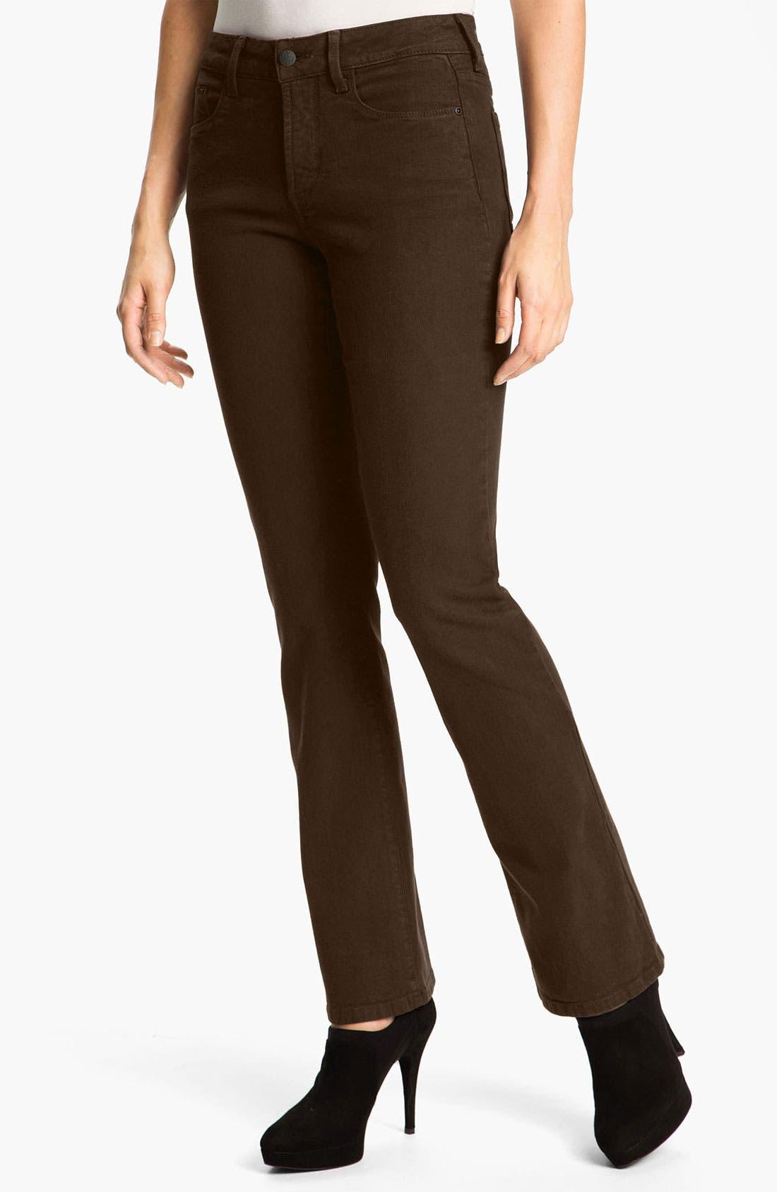 Main Image - NYDJ 'Barbara' Colored Denim Bootcut Jeans (Petite)