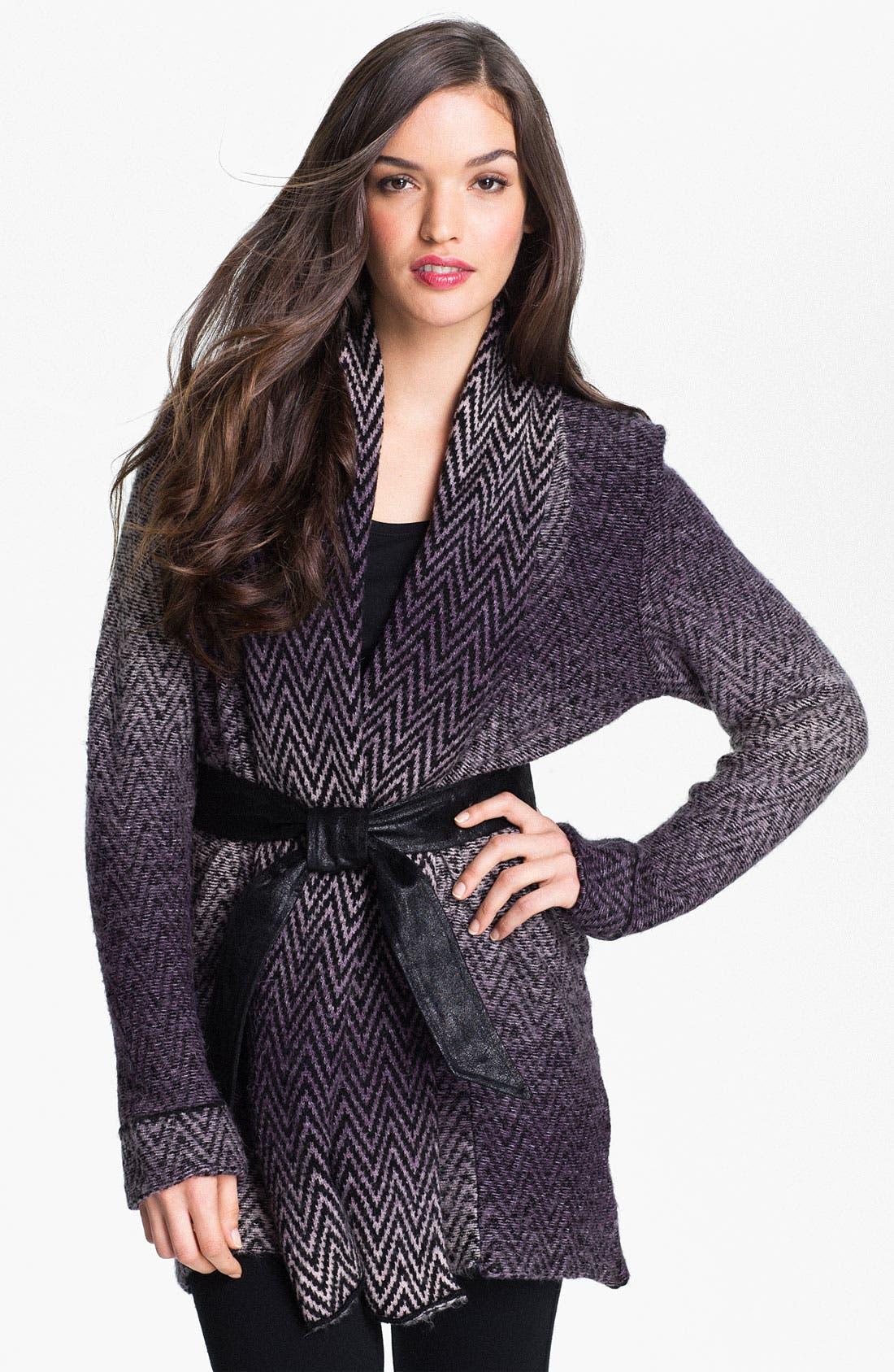 Alternate Image 1 Selected - Beatrix Ost Herringbone Sweater Coat