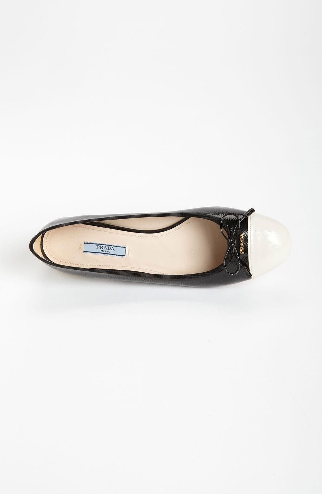Alternate Image 4  - Prada Cap Toe Ballet Flat