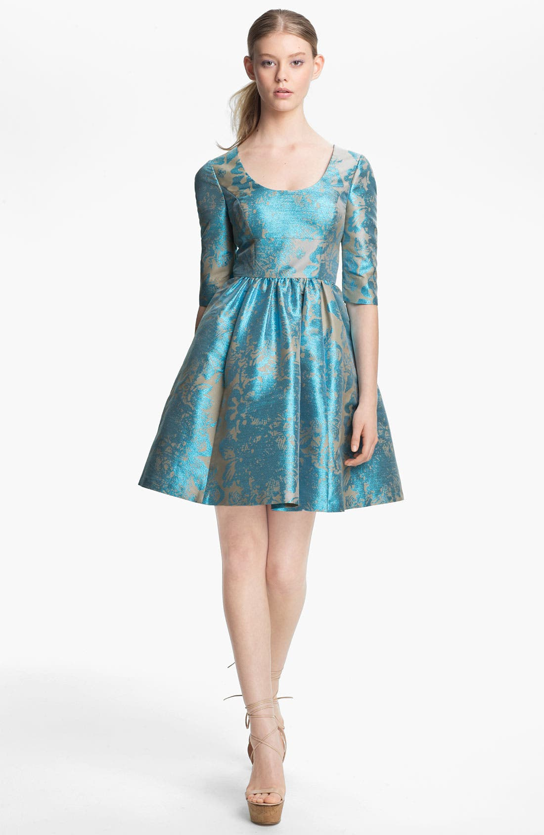 Alternate Image 1 Selected - Tracy Reese Metallic Jacquard Dress