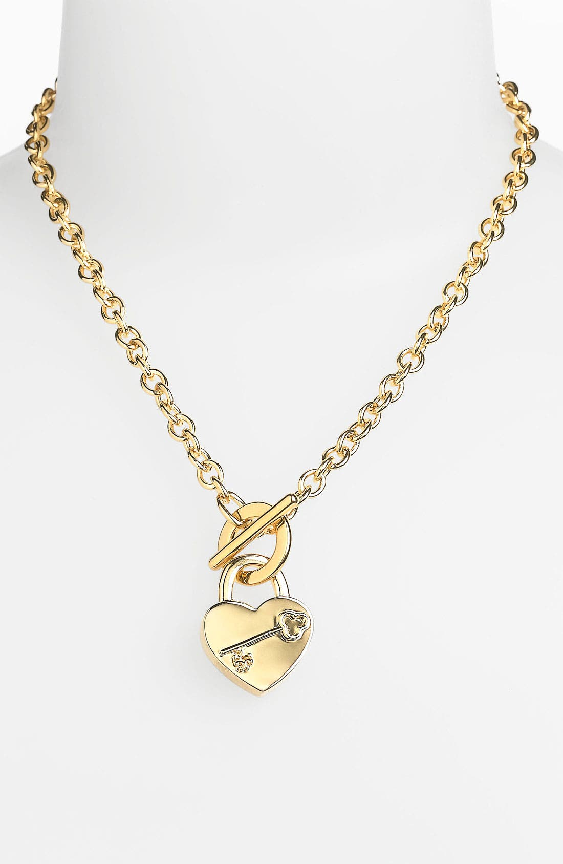 Main Image - Tory Burch 'Louise' Heart Charm Necklace