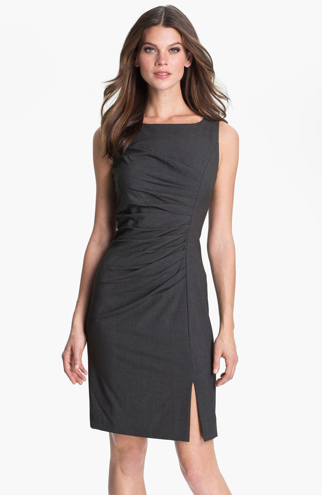 Alternate Image 1 Selected - Calvin Klein Pleated Front Sheath Dress