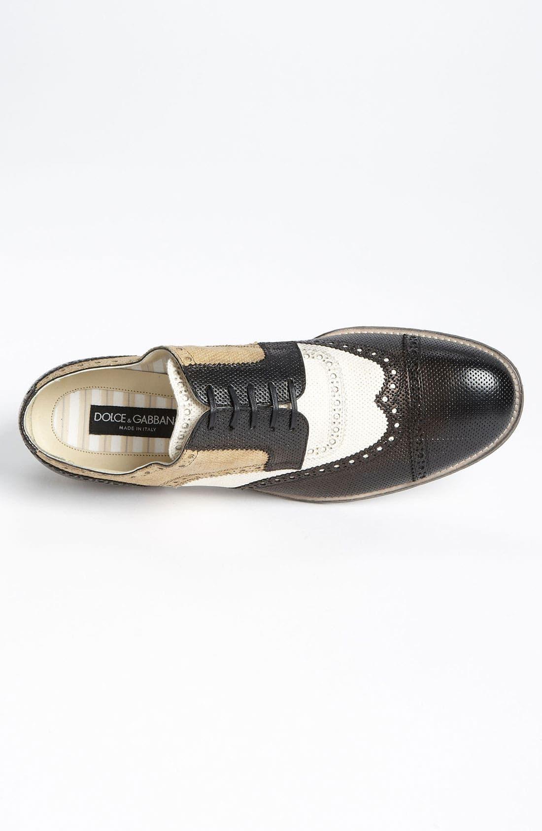 Alternate Image 3  - Dolce&Gabbana Perforated Spectator Shoe