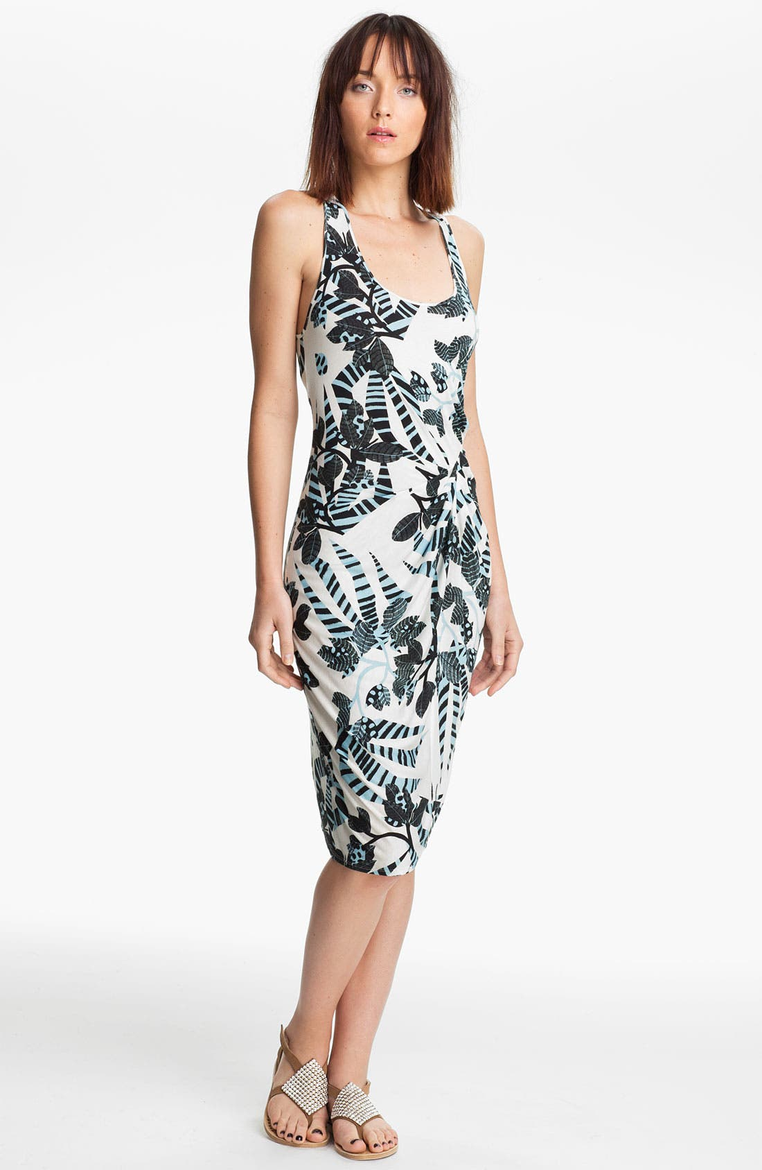 Alternate Image 1 Selected - Thakoon Carbon Copy Gathered Zebra Print Tank Dress