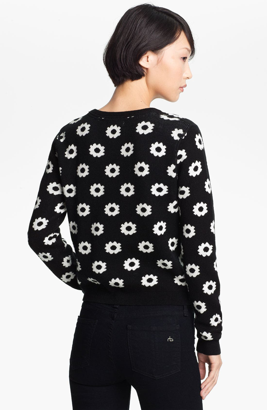 Alternate Image 2  - Opening Ceremony Reversible Floral Jacquard Sweater