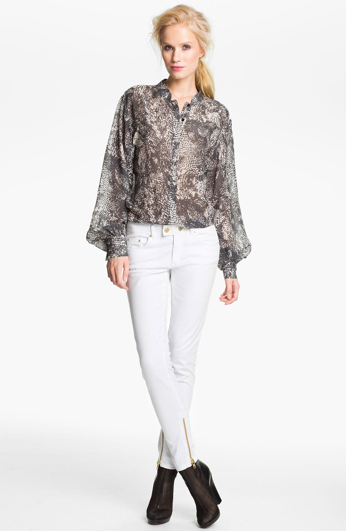 Alternate Image 1 Selected - Rachel Zoe 'Miley' Snake Print Dolman Sleeve Blouse