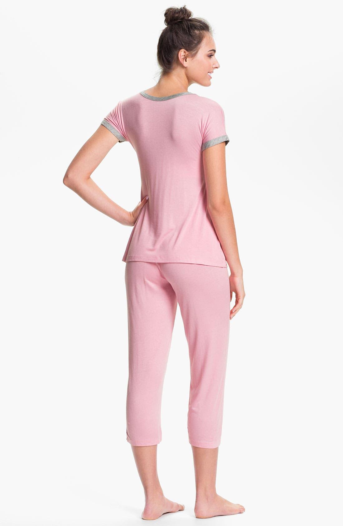 Alternate Image 2  - Japanese Weekend Maternity Pajama Gift Set with Infant Blanket