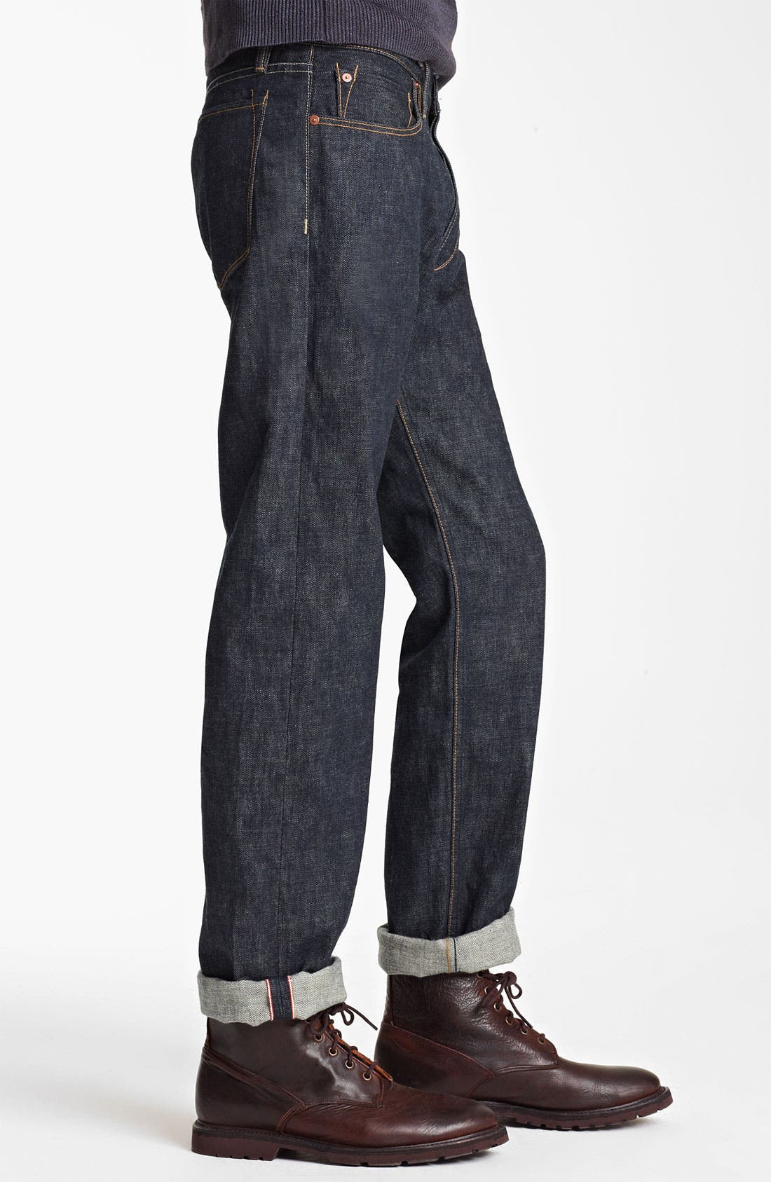 Alternate Image 3  - Todd Snyder Straight Leg Jeans (Indigo)