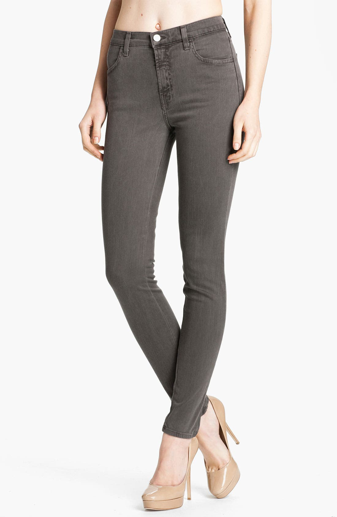Alternate Image 1 Selected - J Brand 'Maria' High Rise Skinny Stretch Jeans (Vintage Fatigue)