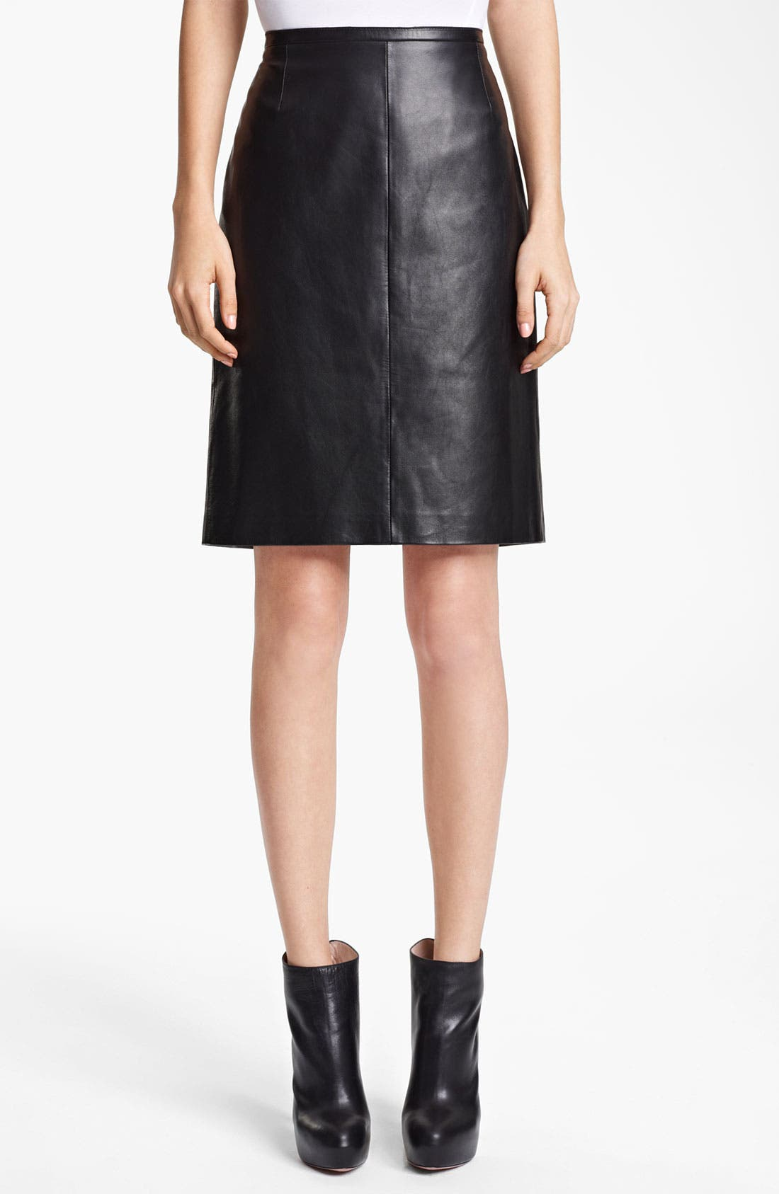 Alternate Image 1 Selected - Reed Krakoff Polished Nappa Leather Skirt