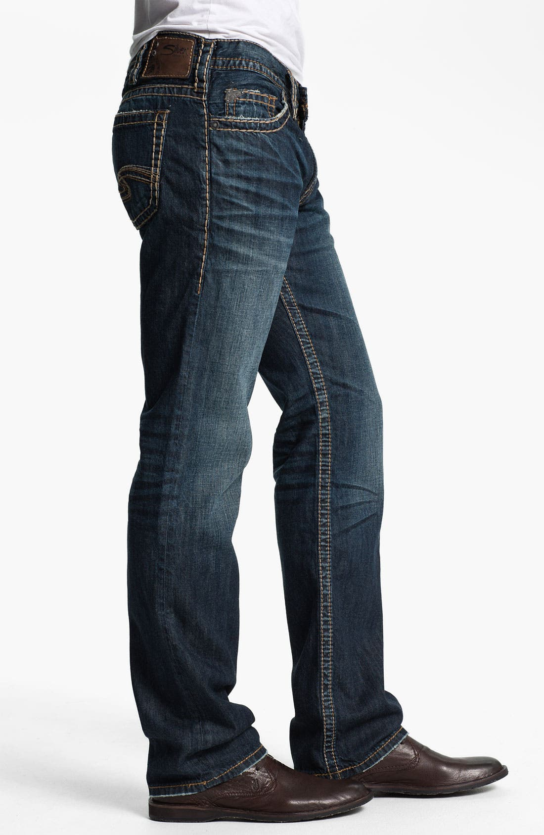 Alternate Image 3  - Silver Jeans Co. 'Nash Heritage' Straight Leg Jeans (Indigo)