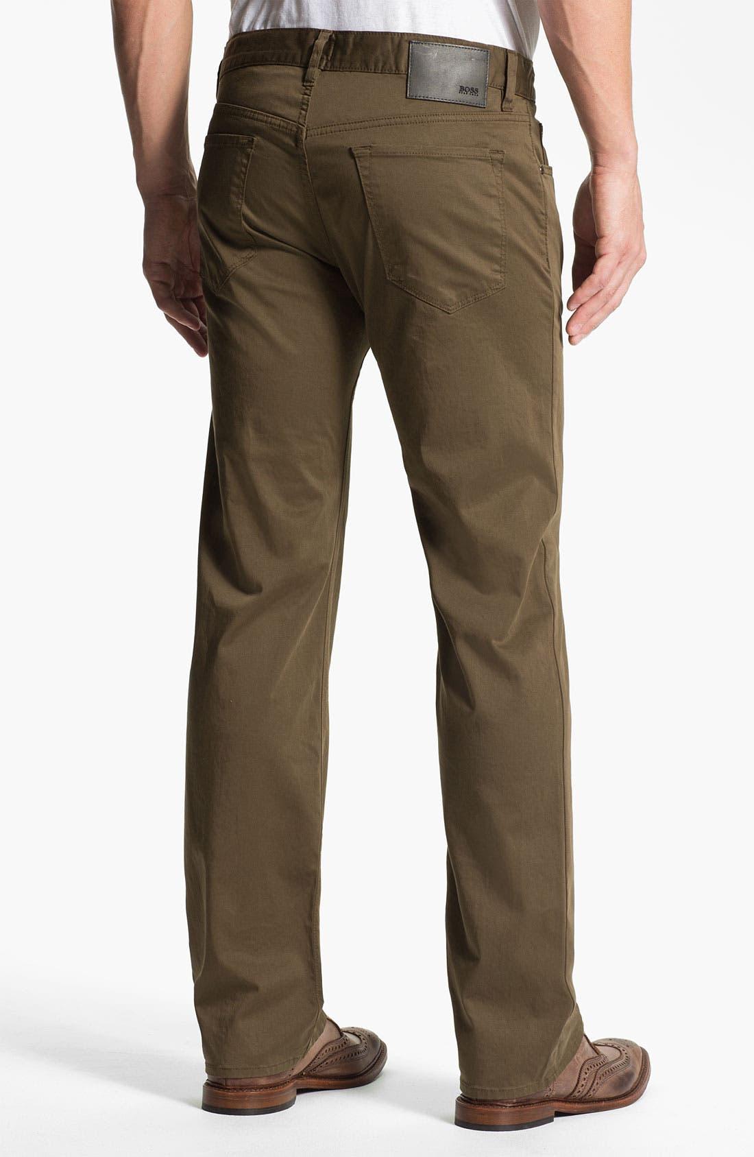 Alternate Image 2  - BOSS Black 'Maine' Straight Leg Pants (British Tan)