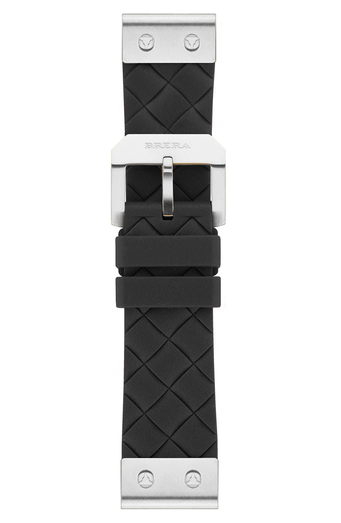 Alternate Image 1 Selected - 22MM WOVEN SILICONE STRAP W/ SILVER HARDWARE