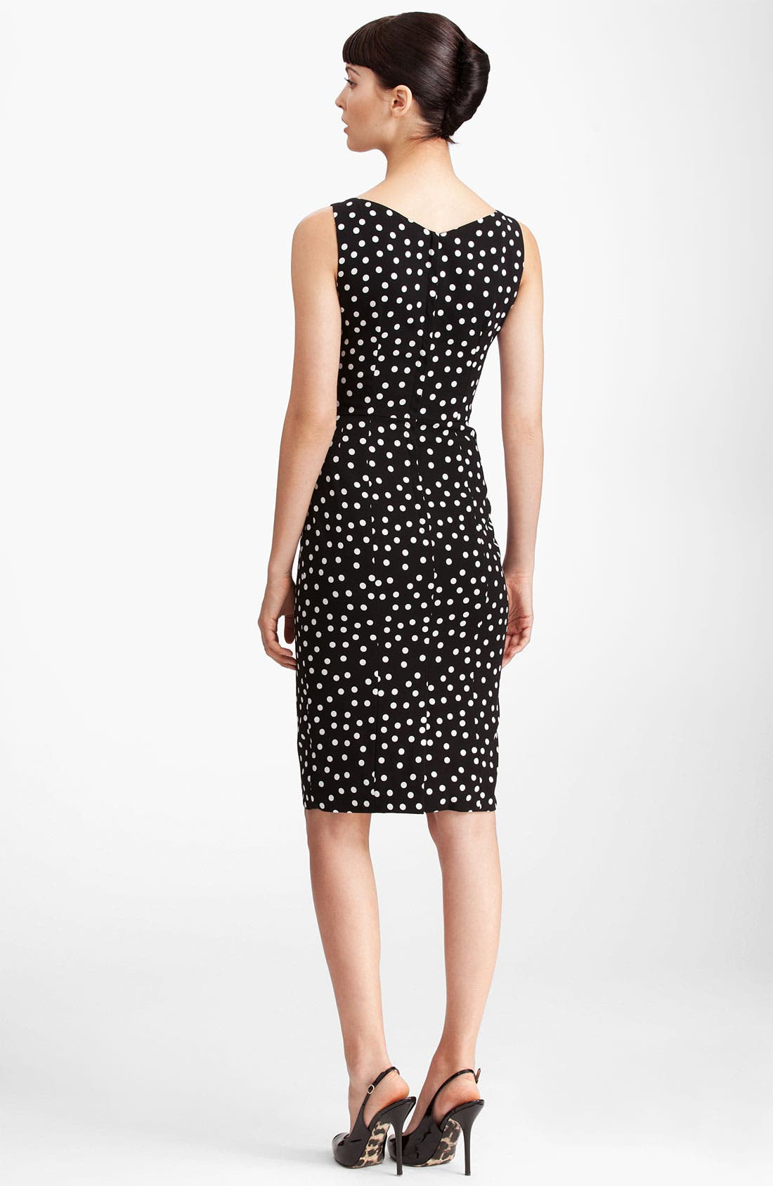 Alternate Image 2  - Dolce&Gabbana Polka Dot Stretch Cady Dress