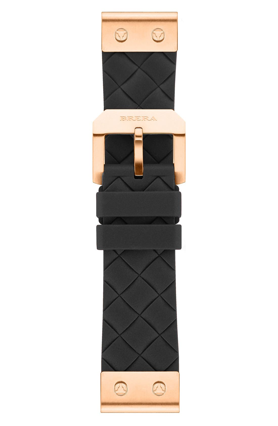 Alternate Image 1 Selected - 22MM WOVEN SILICONE STRAP W/ ROSE GOLD HARDWARE