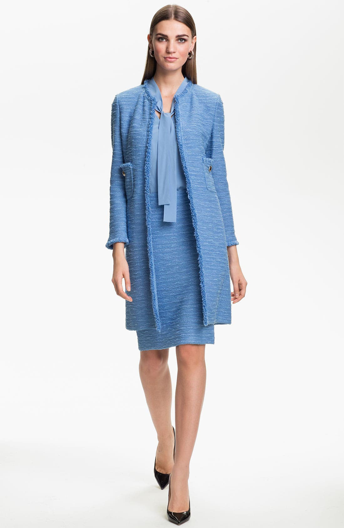 Alternate Image 2  - St. John Collection 'New Shantung' Coat