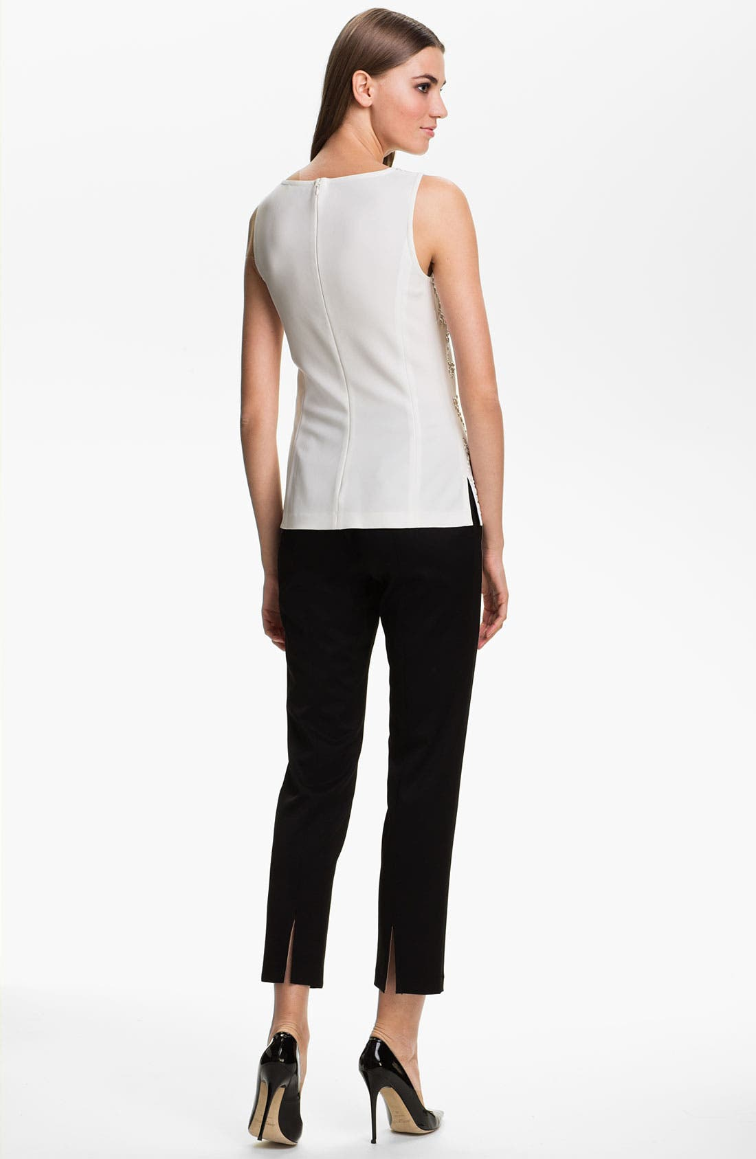 Alternate Image 4  - St. John Collection 'Alexa' Stretch Venetian Wool Ankle Pants
