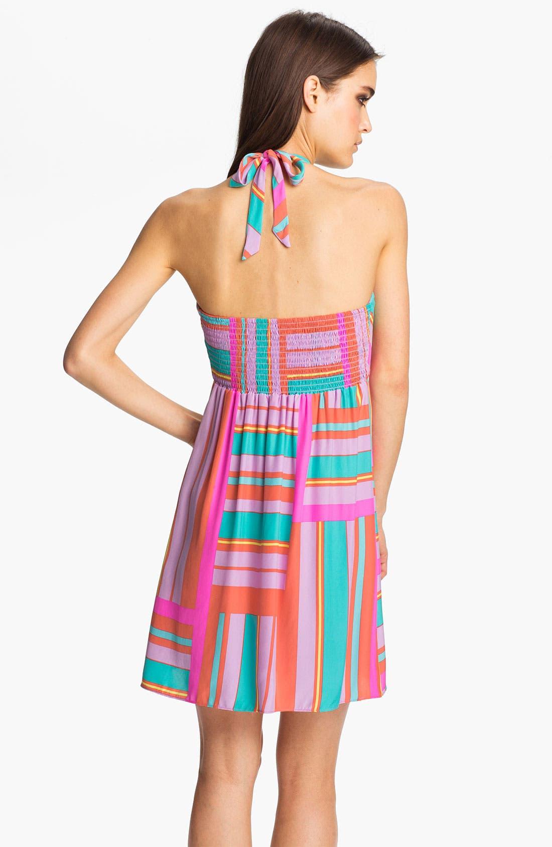 Alternate Image 2  - ALICE & TRIXIE 'Savannah' Printed Silk Halter Dress