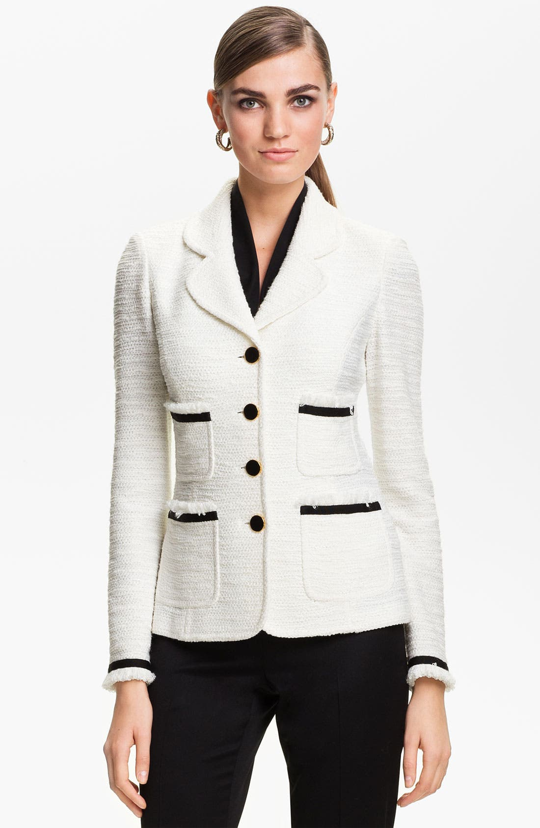 Alternate Image 1 Selected - St. John Collection 'New Shantung' Jacket
