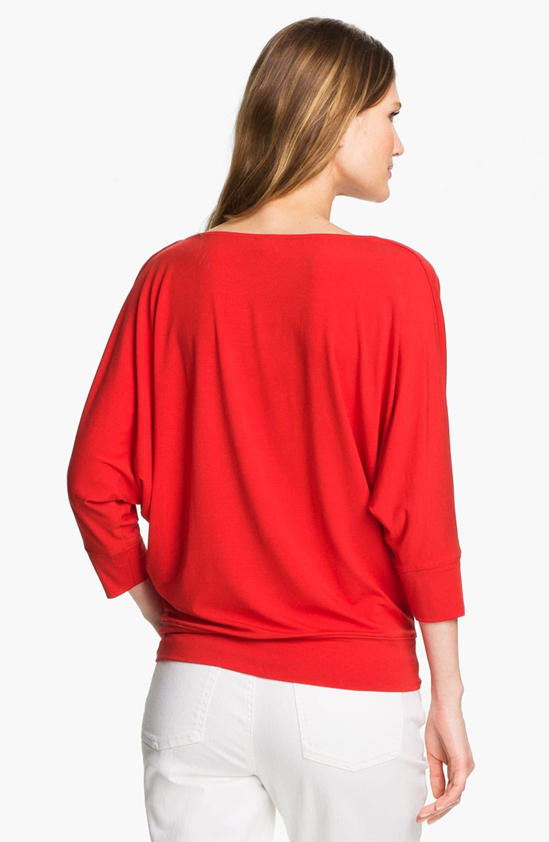 Alternate Image 2  - Eileen Fisher Drape Neck Jersey Top