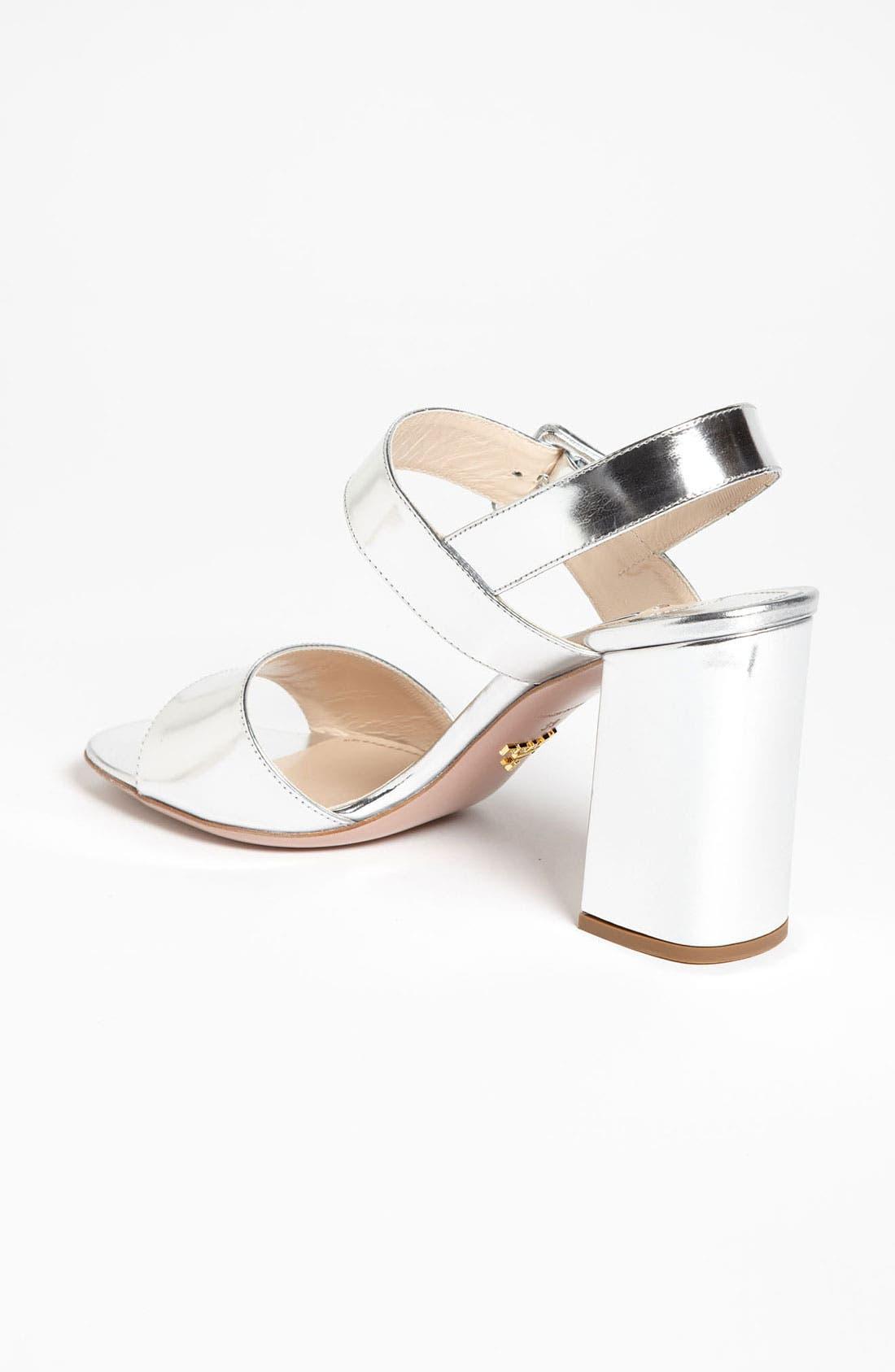 Alternate Image 2  - Prada Two Strap Block Heel Sandal