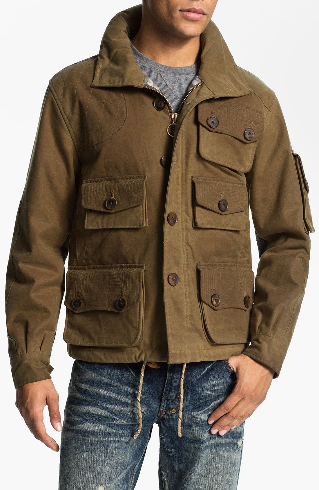 Alternate Image 1 Selected - PRPS 'Utility' Waxed Canvas Field Jacket