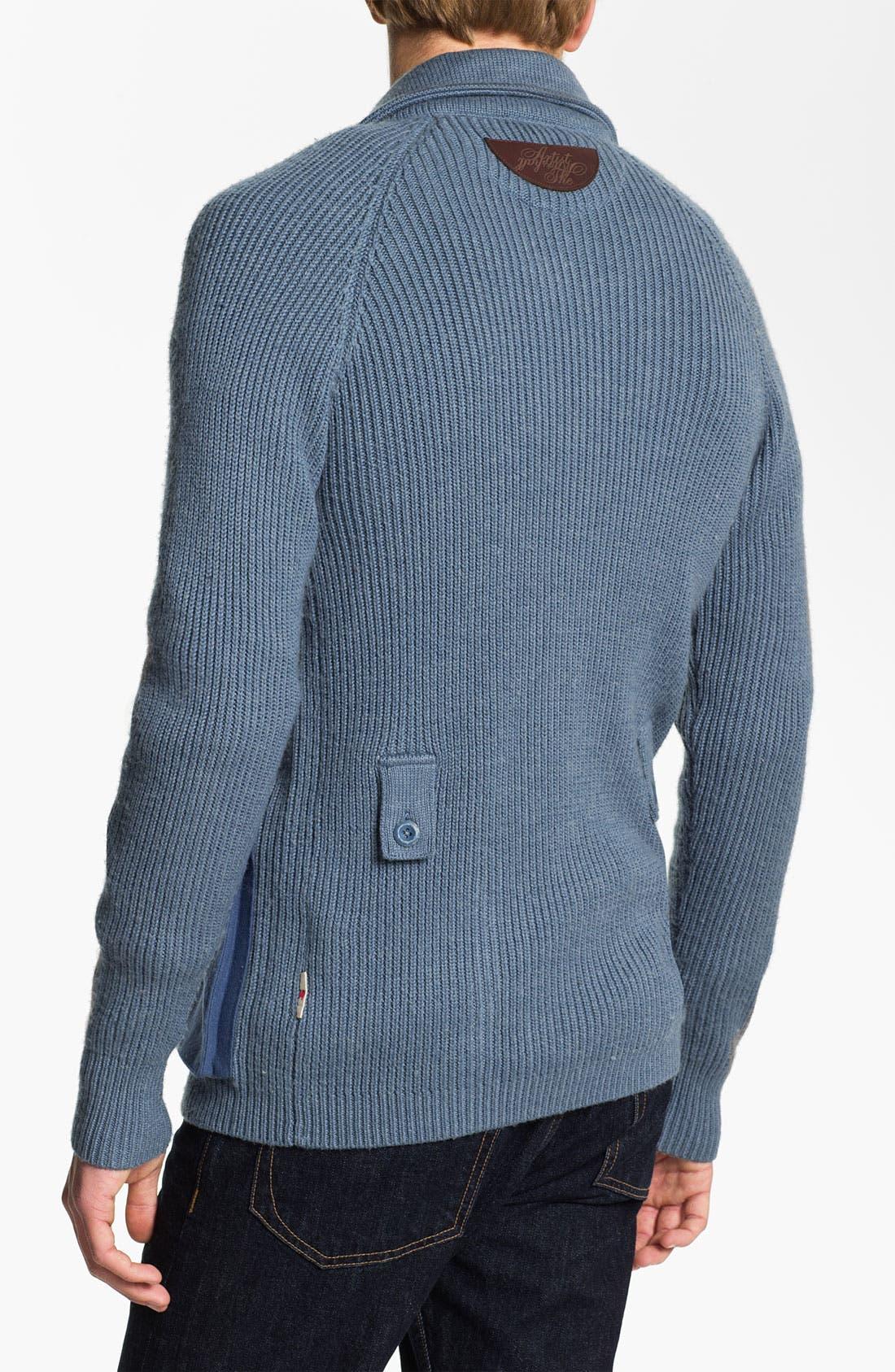 Alternate Image 2  - Marshall Artist 'Officer's' Wool Blend Cardigan