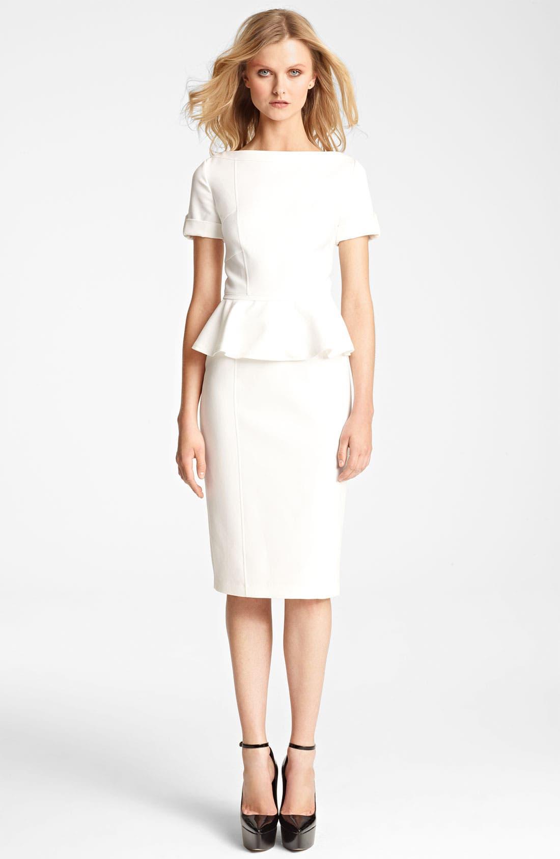 Alternate Image 1 Selected - Burberry London Peplum Dress