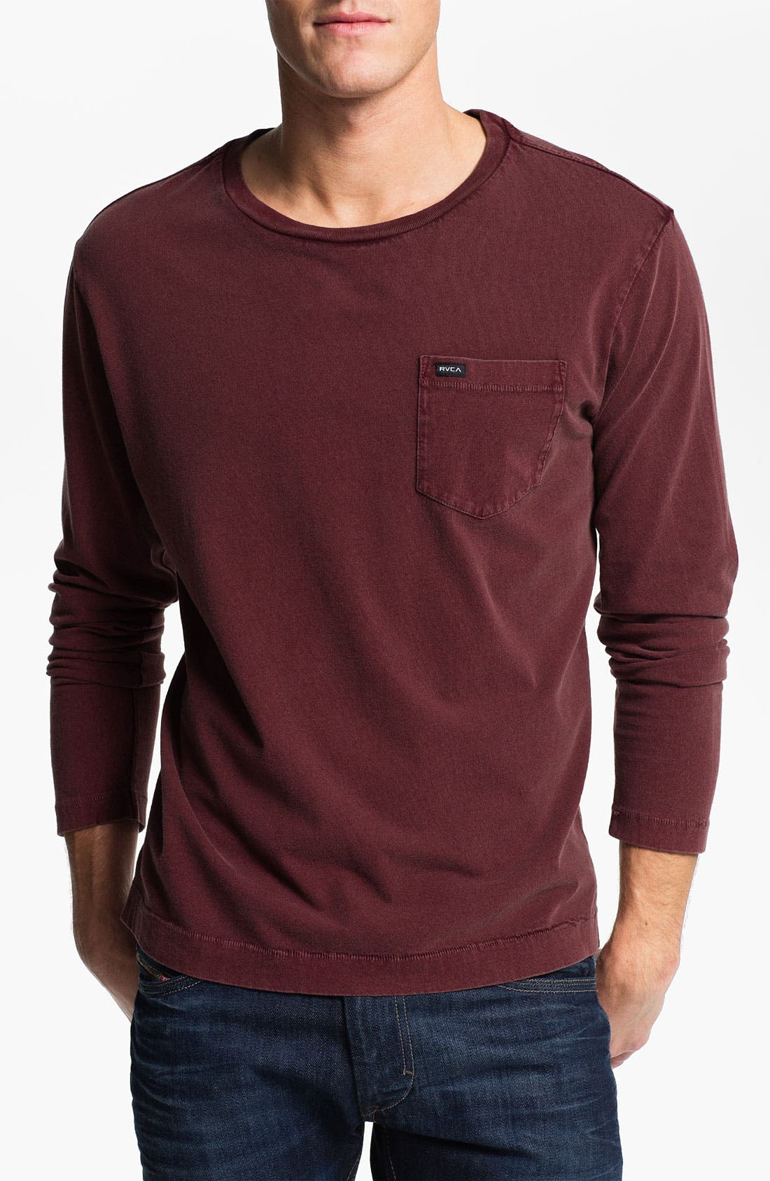 Alternate Image 1 Selected - RVCA 'Solstice' Pigment Dyed Long Sleeve T-Shirt