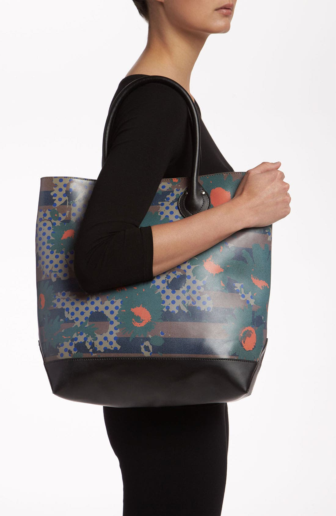 Alternate Image 2  - Yarnz 'Flower Dots' Leather Tote