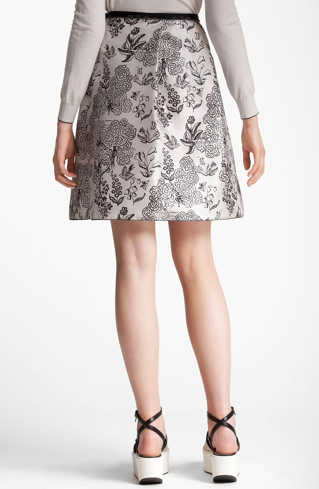 Alternate Image 2  - Jil Sander Navy Nature Print Silk Skirt