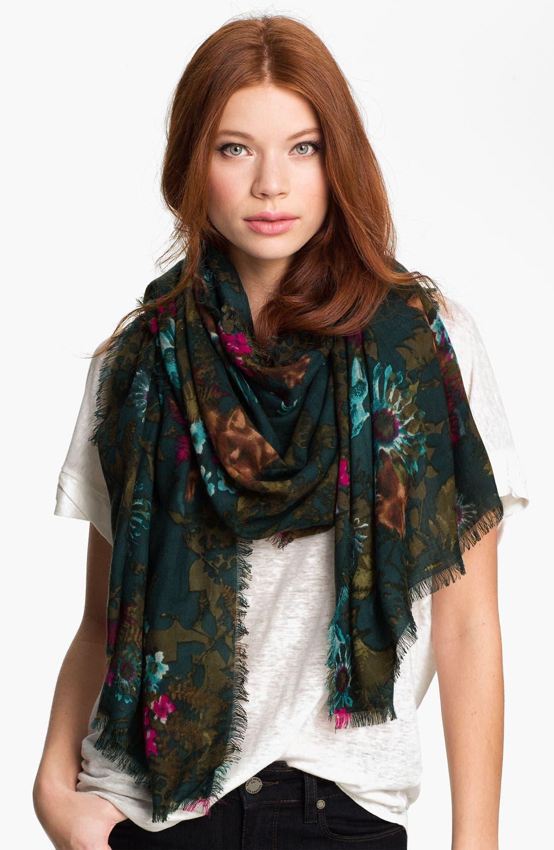 Main Image - Hinge® 'Foxes' Wool Scarf