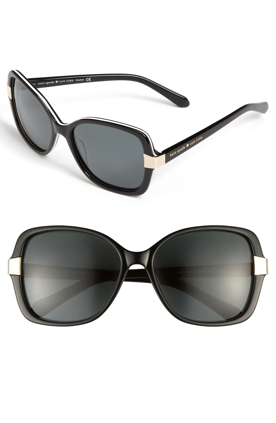 Main Image - kate spade new york 'adamina' 56mm oversized polarized sunglasses