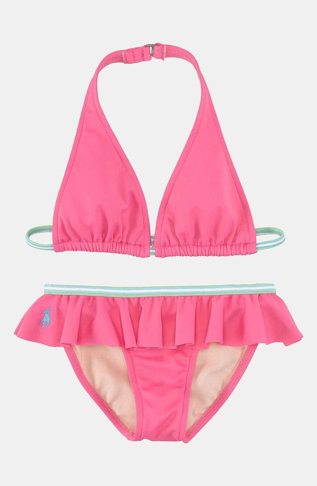 Main Image - Ralph Lauren Two Piece Swimsuit (Toddler)