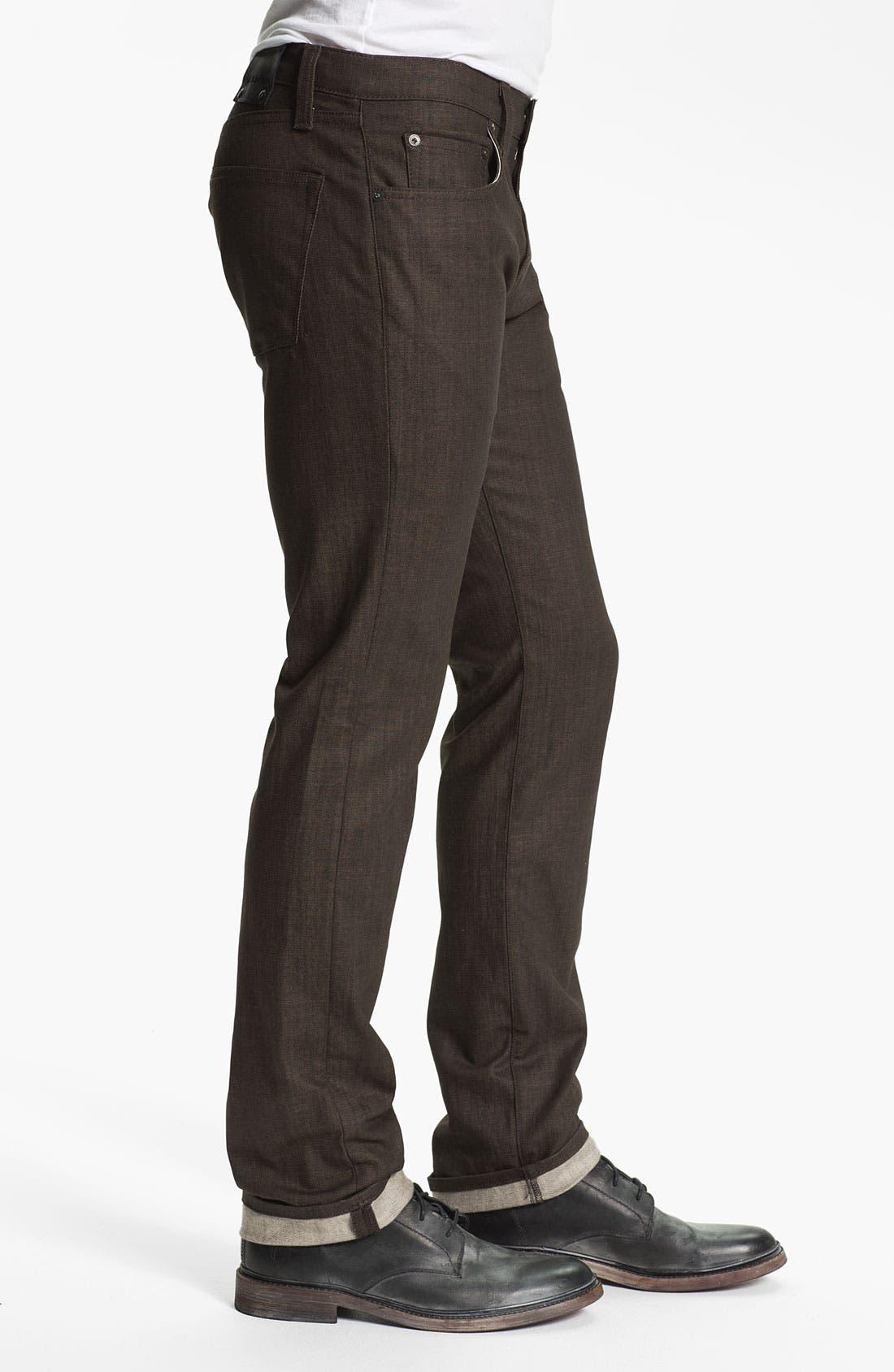 Alternate Image 3  - J Brand 'Kane' Slim Straight Leg Jeans (Flex Raw Scotch)