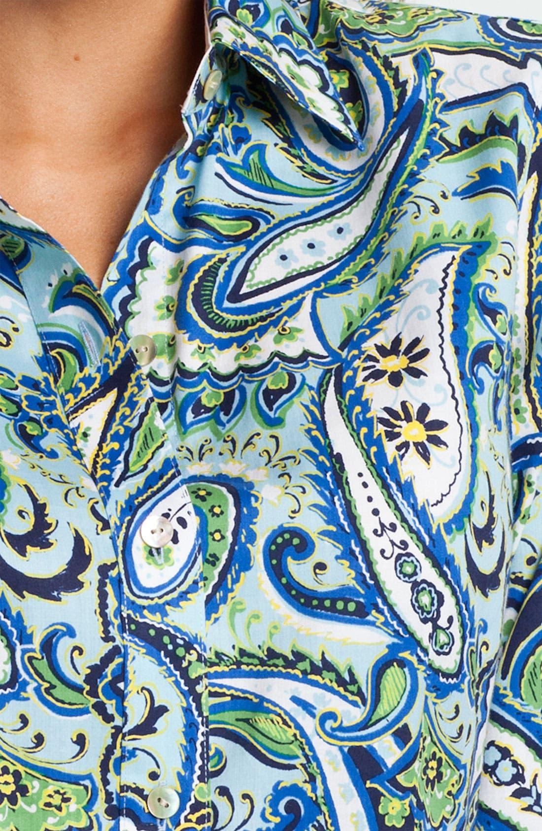 Alternate Image 3  - Foxcroft 'Marina Paisley' Shirt
